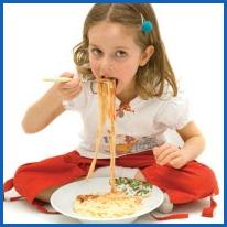 Photo of girl eating