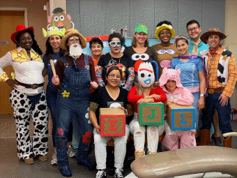 EJL employees in costume for Halloween 2019