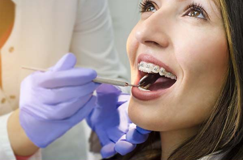 Photo of woman during a dental exam