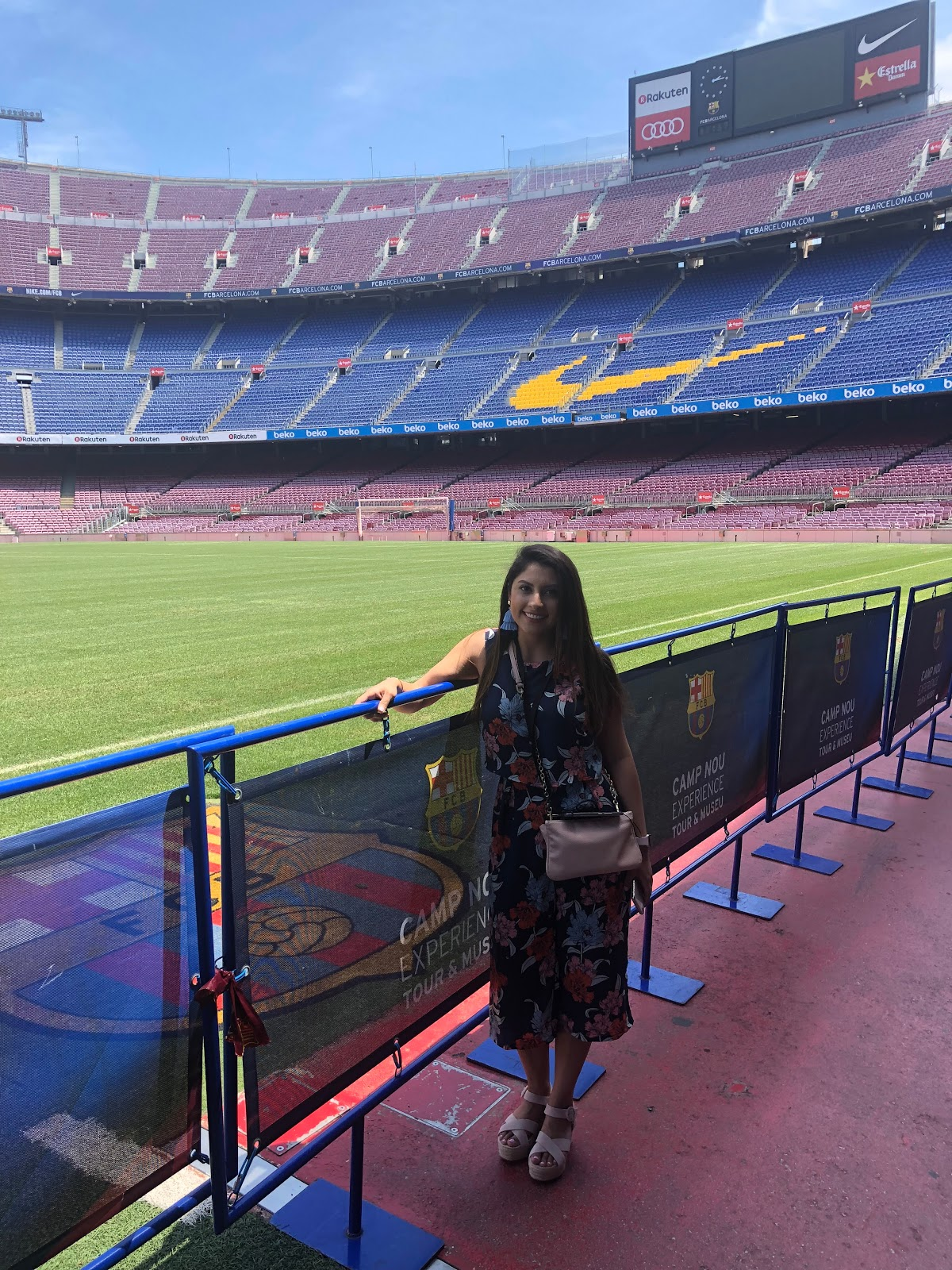 Dr. Sheyda Maghsoudi at the FC Barcelona Stadium on a visit in 2018.
