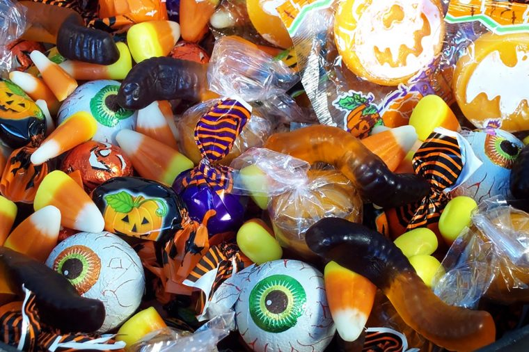 Photo of a variety of Halloween Candy