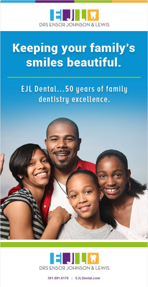 Smiling African American Family of four