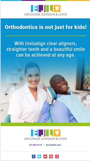 Female dentist and male patient smiling